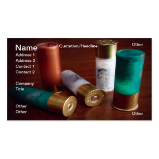 Hunting ammo pack of standard business cards
