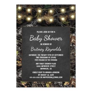 Hunting Camo Chalkboard Baby Shower Invitations