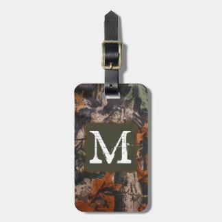Hunting Camo Hunters Camoufla Monogram Luggage Tag