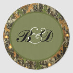 Hunting Camo Wedding Stickers