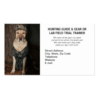 Hunting/Camping Guide & Gear/Field Trial Trainer Business Cards