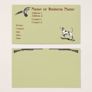 Hunting Dog and Pheasant Business Profile Card