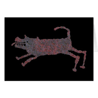 Hunting Dog Petroglyph Card