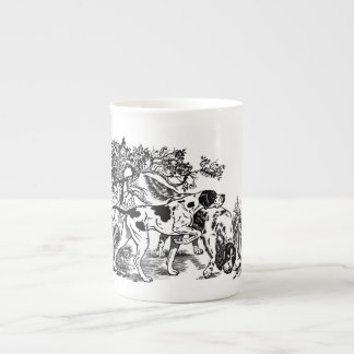 hunting dogs tea cup