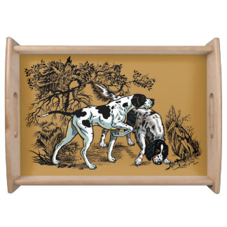 hunting dogs service tray