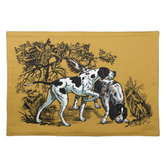 hunting dogs placemats