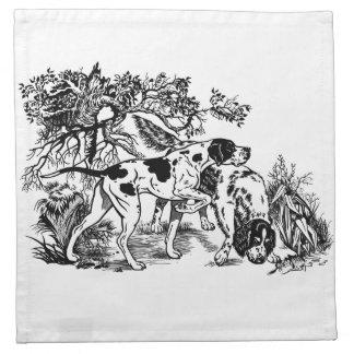 hunting dogs printed napkin