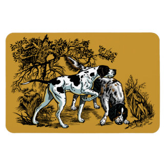 hunting dogs rectangular photo magnet