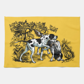 hunting dogs hand towels