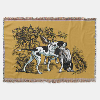 hunting dogs throw