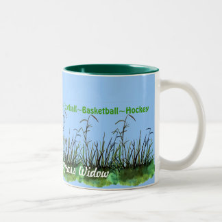 Hunting, Fishing, etc..Leaving Me A Grass Widow... Two-Tone Coffee Mug