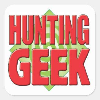 Hunting Geek v2 Square Sticker