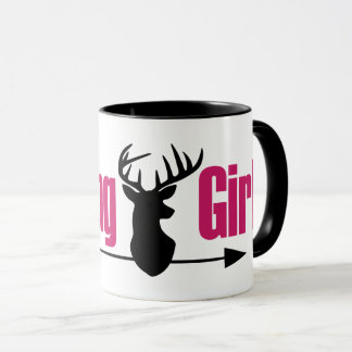 Hunting Girl Stag Mug