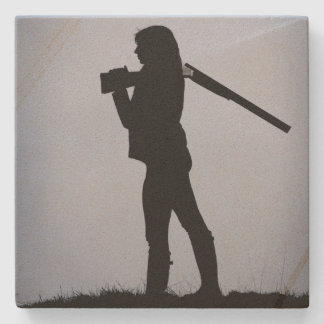 Hunting Girl Stone Coaster