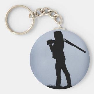 Hunting Keyring Basic Round Button Key Ring