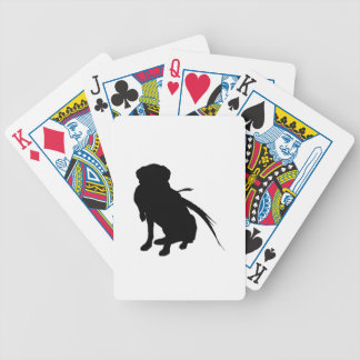 Hunting Labrador Retriever Silhouette Love Dogs Bicycle Playing Cards