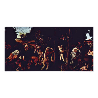 Hunting Scene By Piero Di Cosimo (Best Quality) Personalized Photo Card