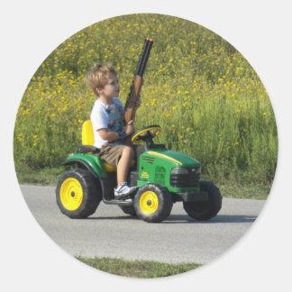 Hunting Season Begins by Leslie Peppers Round Sticker