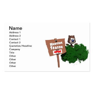 Hunting Season Pack Of Standard Business Cards