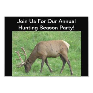 Hunting Season Party Elk Invitation