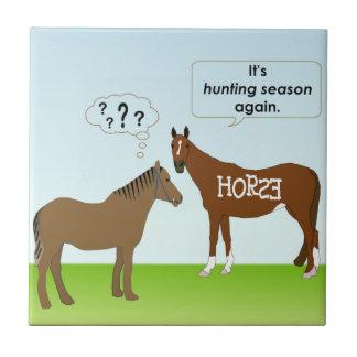 Hunting Season Small Square Tile