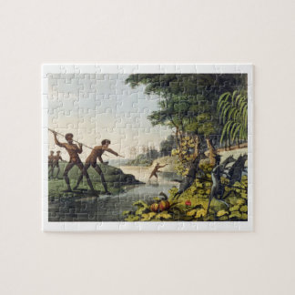 Hunting the Kangaroo aborigines in New South Wale Jigsaw Puzzle