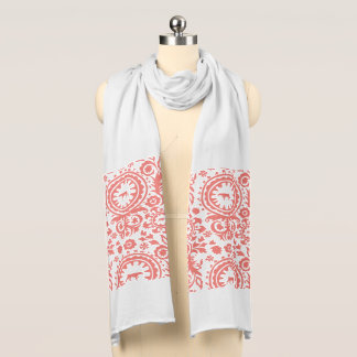 HUNTING WEIMARANER RED FLORAL SCARF