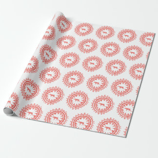 HUNTING WEIMARANER RED FLORAL wrapping paper