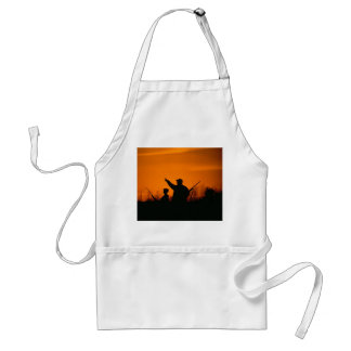 Hunting With Dad and Orange Sky Apron