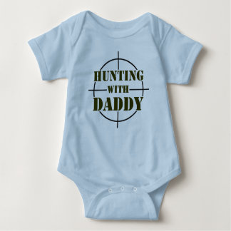 Hunting With Daddy Baby Bodysuit