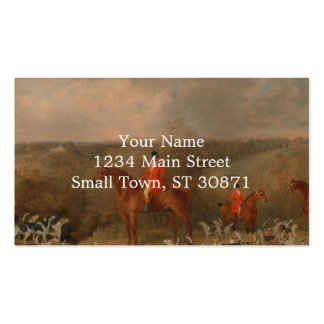 Hunting With Dogs and Horse Famous Oil Painting Double-Sided Standard Business Cards (Pack Of 100)