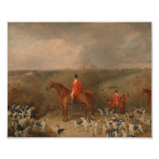 Hunting With Dogs and Horse Famous Oil Painting Photographic Print