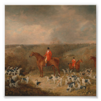 Hunting With Dogs and Horse Famous Oil Painting Photo Print