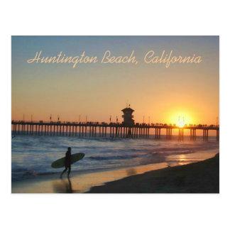 Huntington Beach at Sunset Postcard
