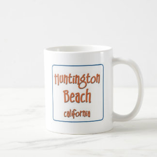 Huntington Beach California BlueBox Basic White Mug