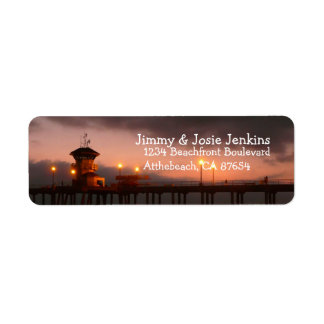 Huntington Beach California custom Return Address Label