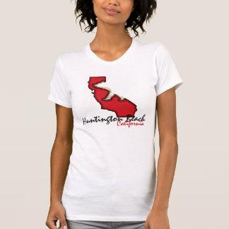 Huntington Beach California red bear symbol tee