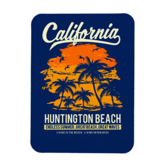 Huntington Beach California Sunset Magnet