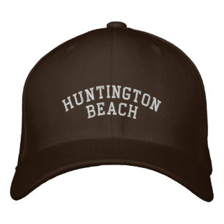 Huntington beach embroidered baseball caps