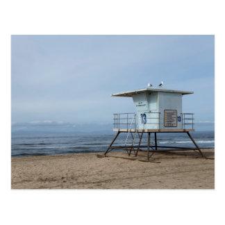 Huntington Beach Lifeguard Post 13 Postcard