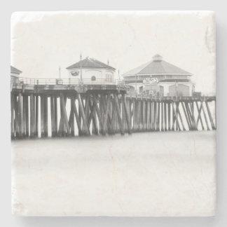 Huntington Beach Pier Stone Coaster