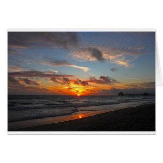 Huntington Beach Pier Sunset Card