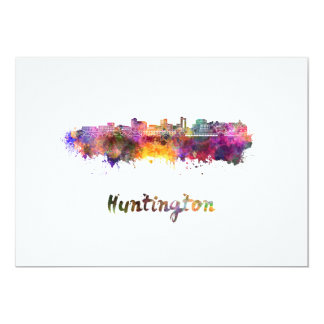 Huntington skyline in watercolor card