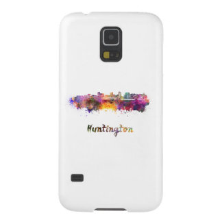 Huntington skyline in watercolor galaxy s5 cases