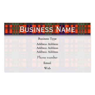 Huntly clan Plaid Scottish tartan Pack Of Standard Business Cards