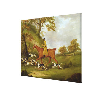 Huntsman and Hounds, 1809 (oil on canvas) Stretched Canvas Prints