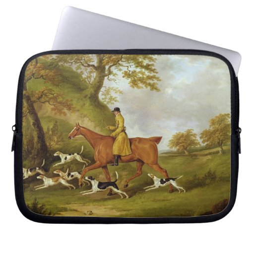 Huntsman and Hounds, 1809 (oil on canvas) Laptop Sleeve