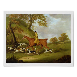 Huntsman and Hounds, 1809 (oil on canvas) Poster