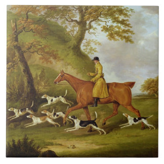 Huntsman and Hounds, 1809 (oil on canvas) Ceramic Tile