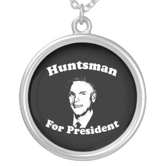 HUNTSMAN FOR PRESIDENT 2012 ROUND PENDANT NECKLACE